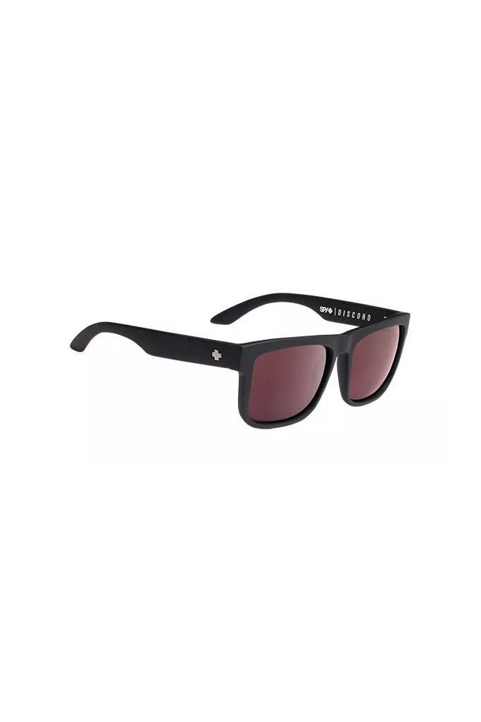 Spy Discord Matte Black Happy Rose w/ Light Silver Spec Polarised