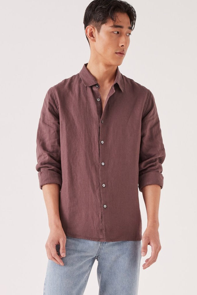 Assembly Casual LS Shirt Damson
