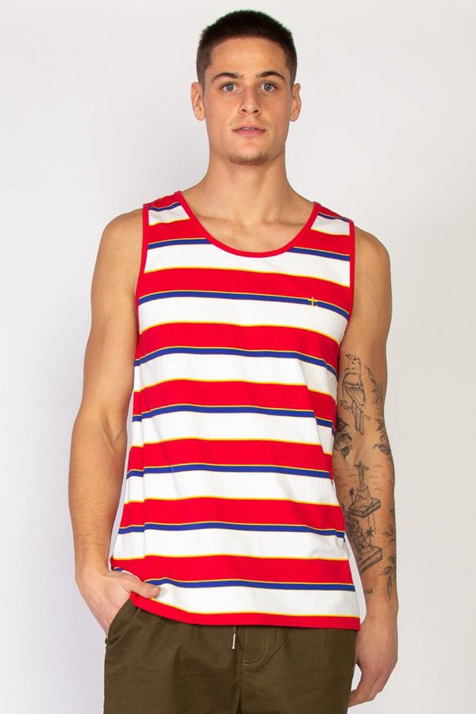 Federation Break Singlet - Stripe Red Stripe