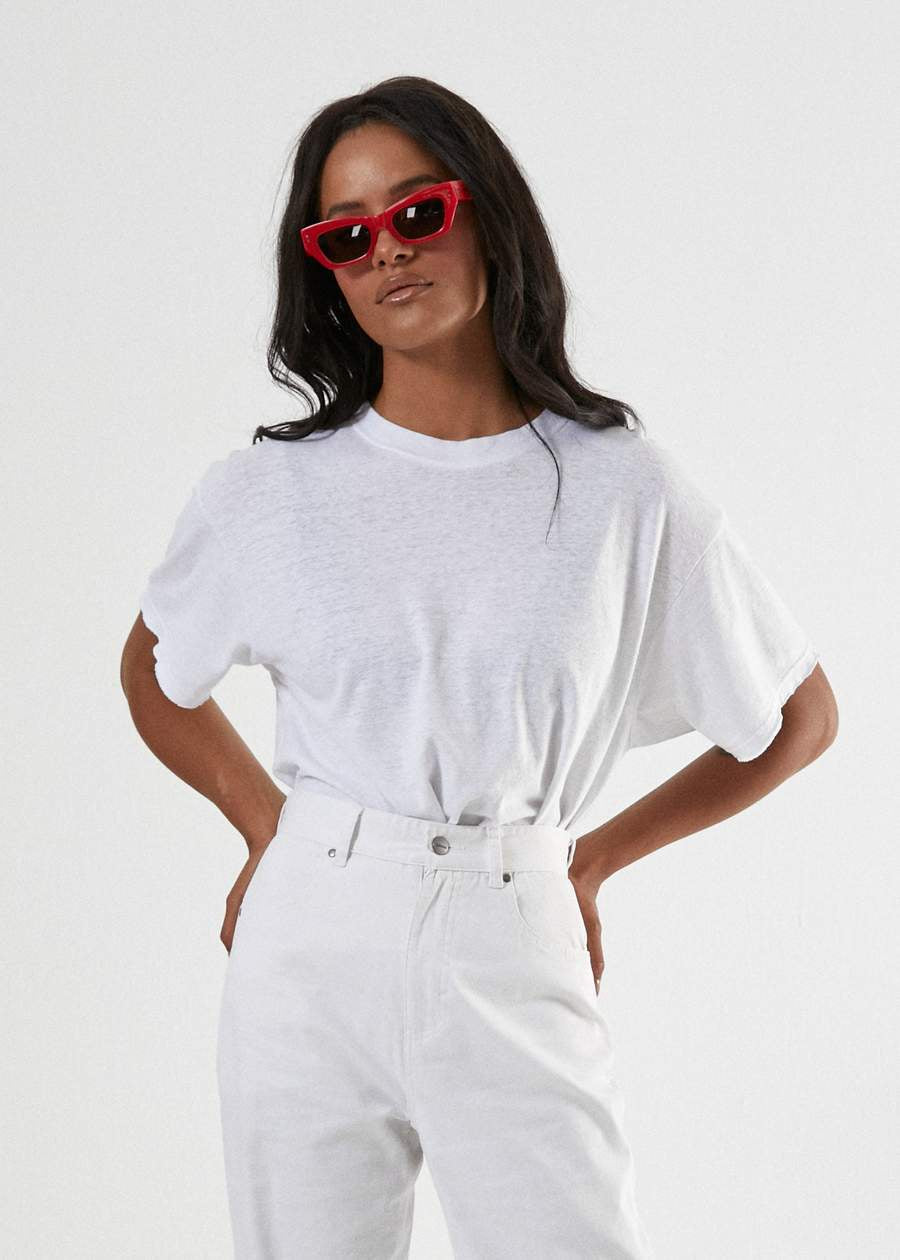 Afends Slay - Hemp Oversized Tee - White