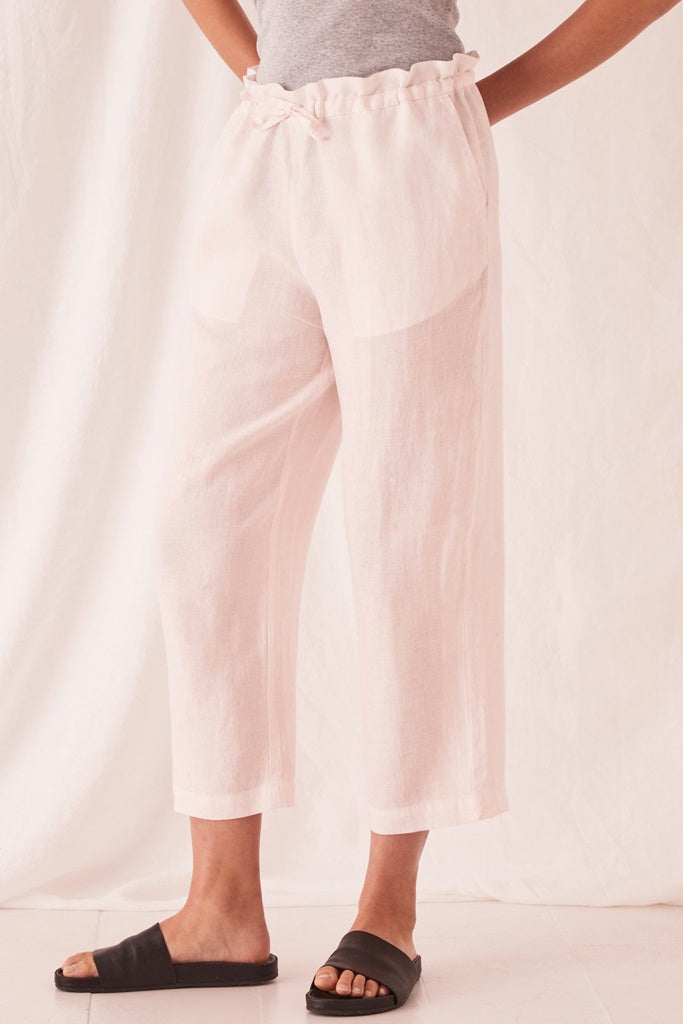 Assembly Ollie Linen Pant Pink Dew