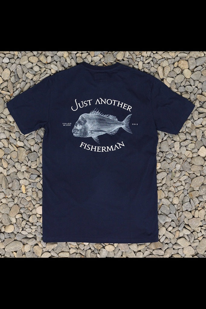 Just Another Fisherman Snapper Logo Tee Navy