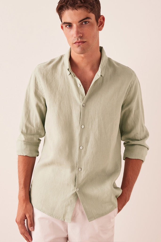 Assembly Casual Long Sleeve Shirt Soft Green