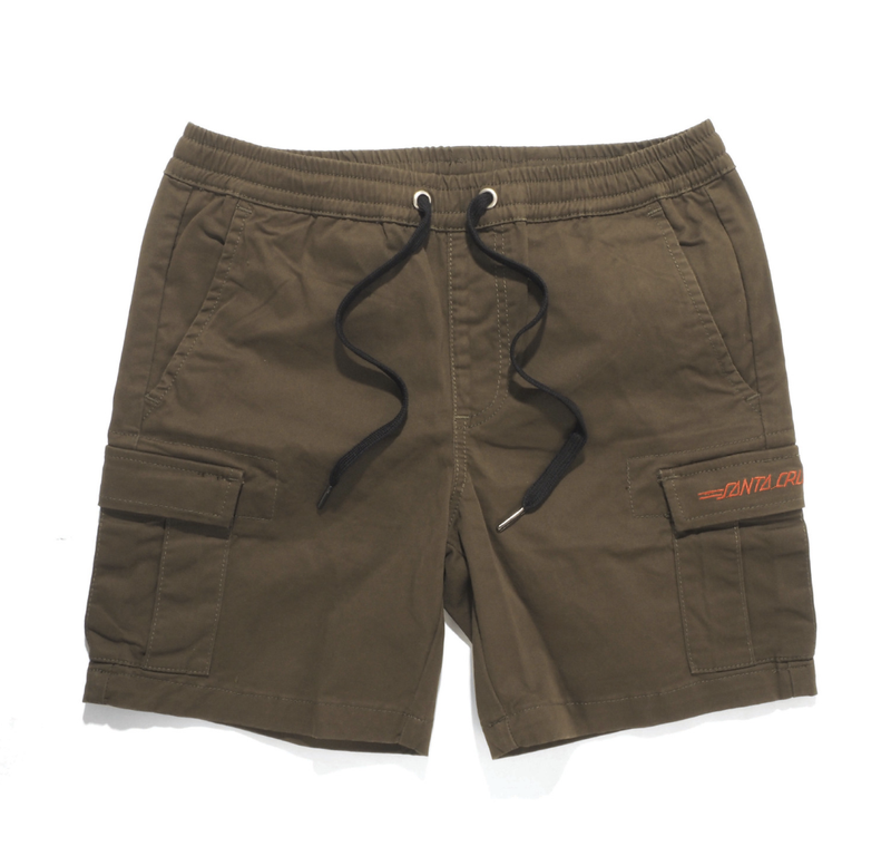 Santa Cruz Youth Classic Cali Cargo Short Army