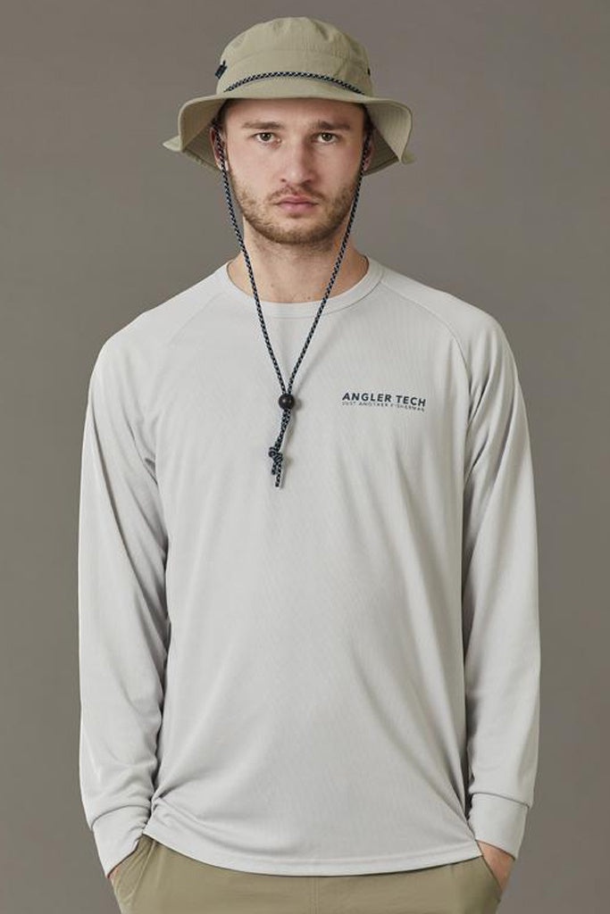 Just Another Fisherman Tech Kingi LS Tee Light Grey