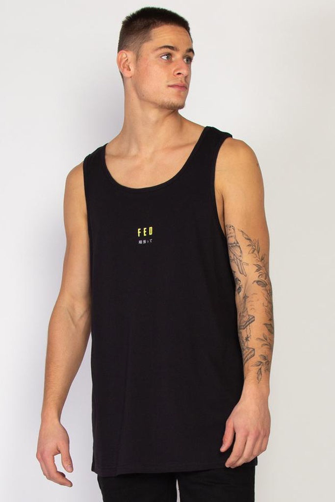 Federation Break Singlet Best Black