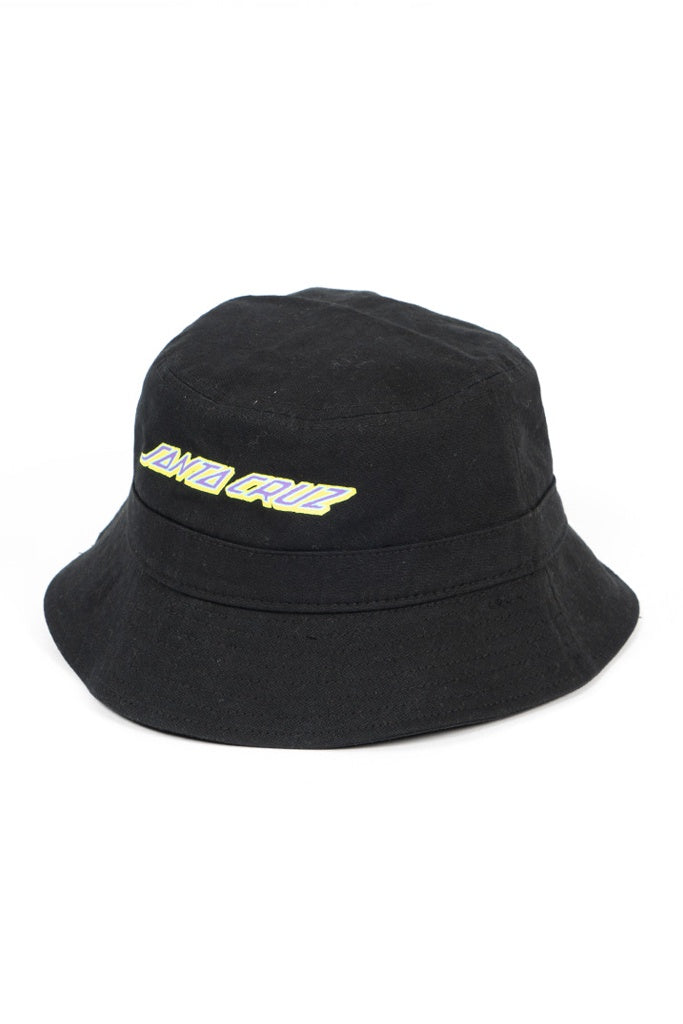 Santa Cruz Youth Electro Strip Bucket Hat Black