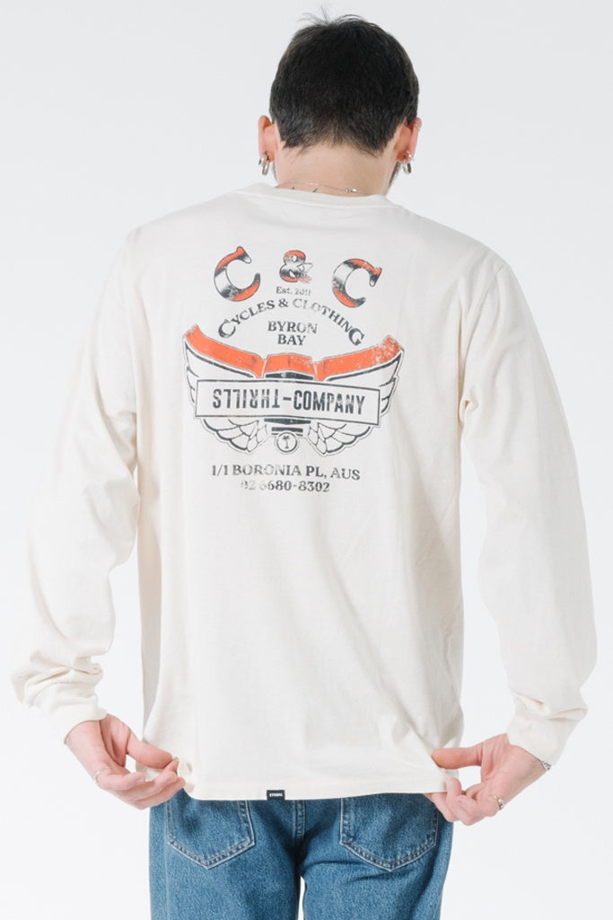Thrills C&C Wings Merch Fit L/S Tee Heritage White
