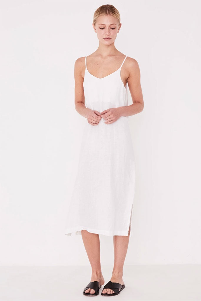 Assembly Linen Slip Dress White