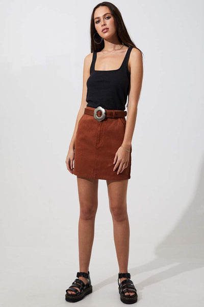 Afends Jane Hemp Skirt Ginger