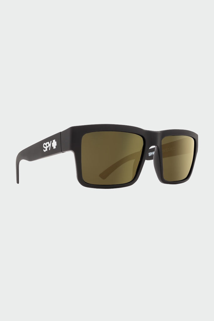 SPY Montanas Soft Matte Black - Happy Bronze Gold Mirror