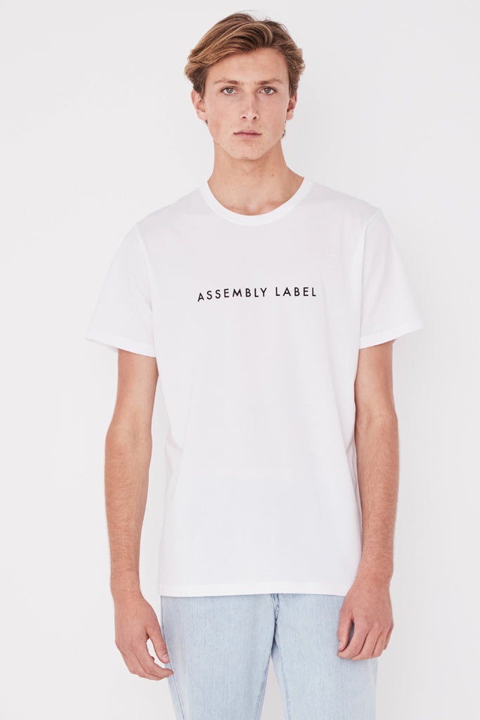 Assembly Mens Logo Tee White