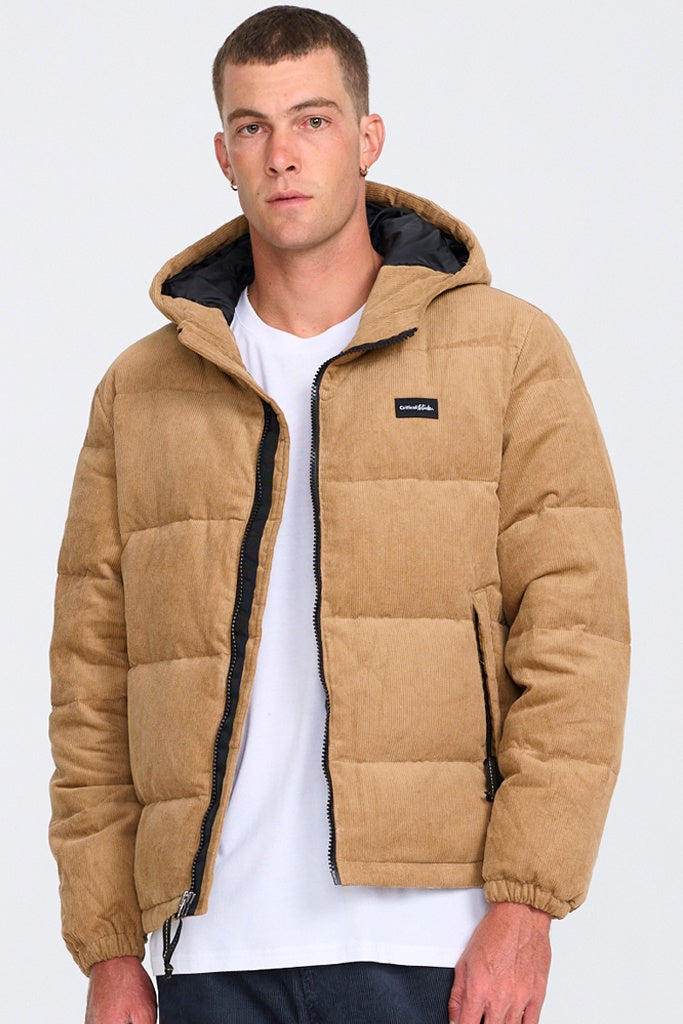 TCSS Corduroy Puffer Jacket Amber