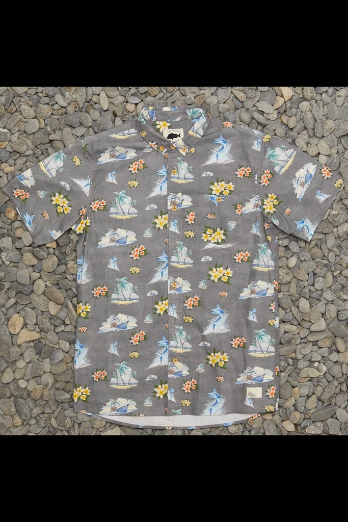 JAF Floral Marlin Shirt Grey