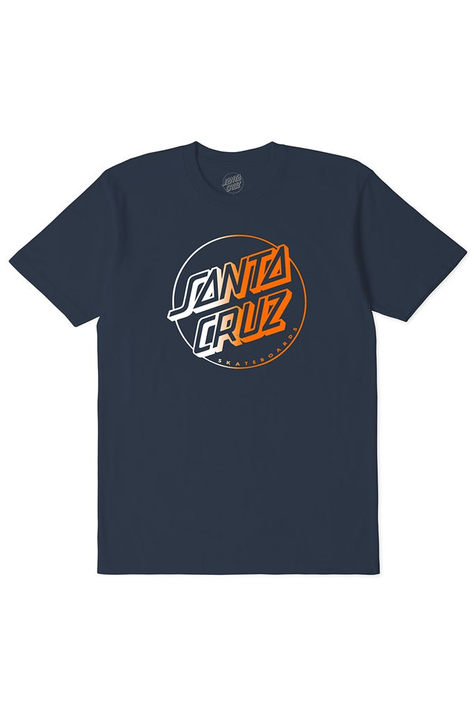 Santa Cruz Youth Opus Dot Solar Tee Blue Nights
