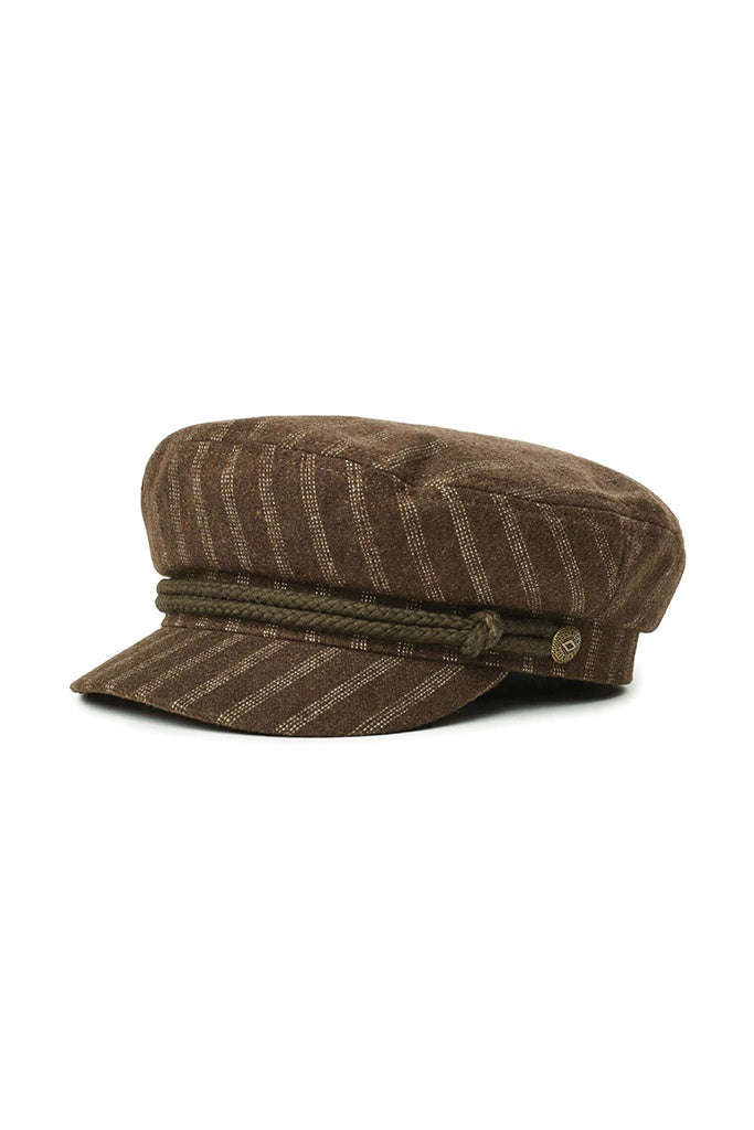 Brixton Fiddler cap Brown/White