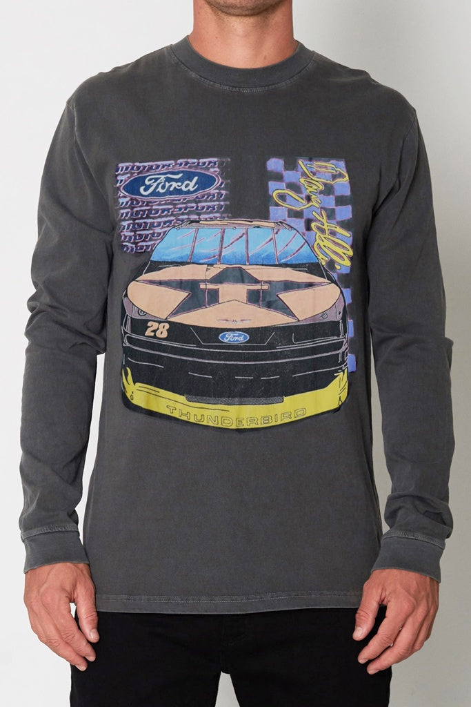 Rollas Ford Thunder L/S Tee Washed Black