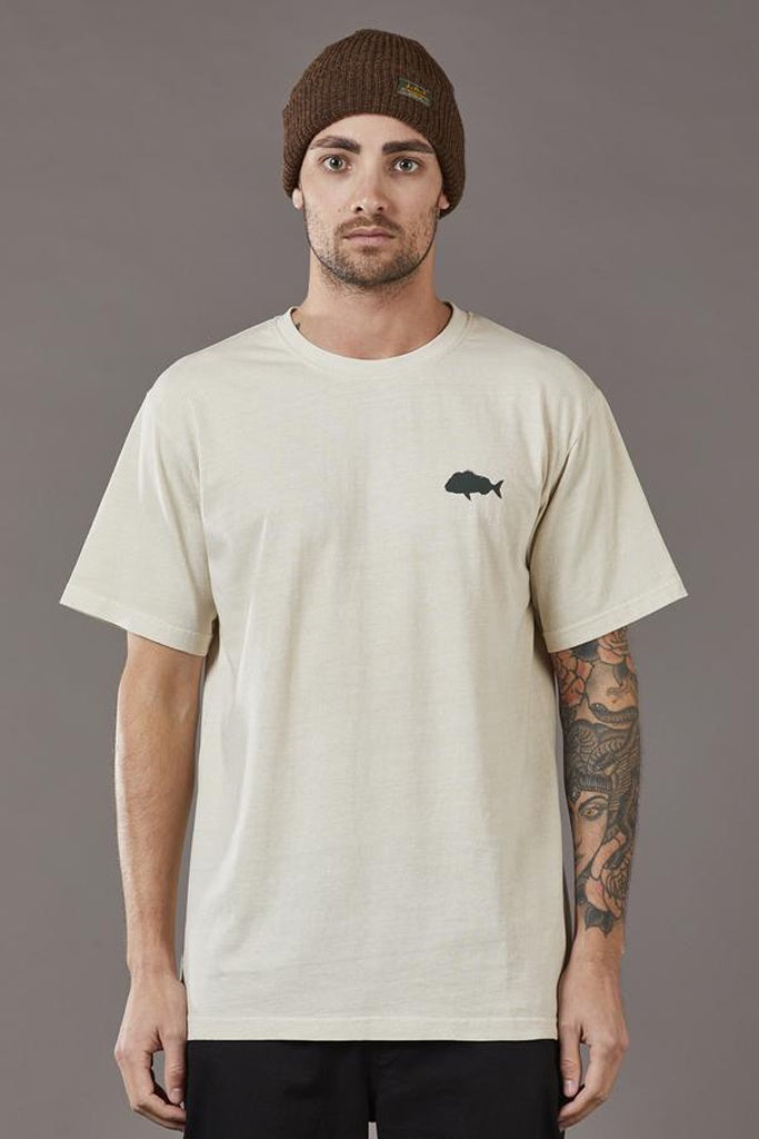 Just Another Fisherman Snapper Stamp Tee Stone