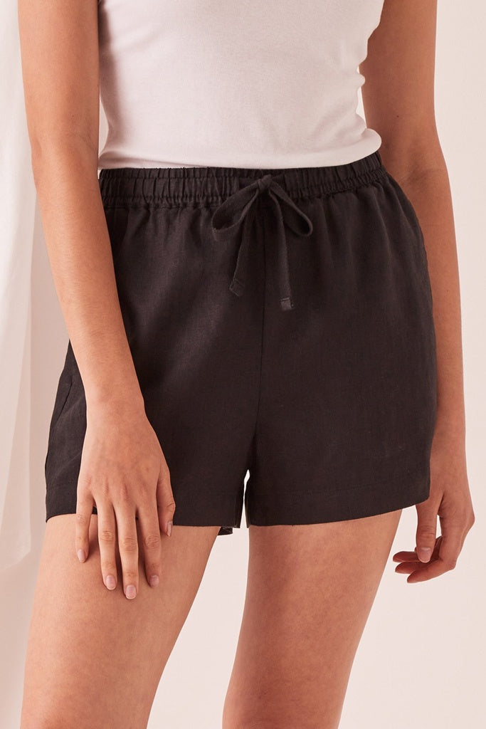 Assembly Anika Linen Short Black