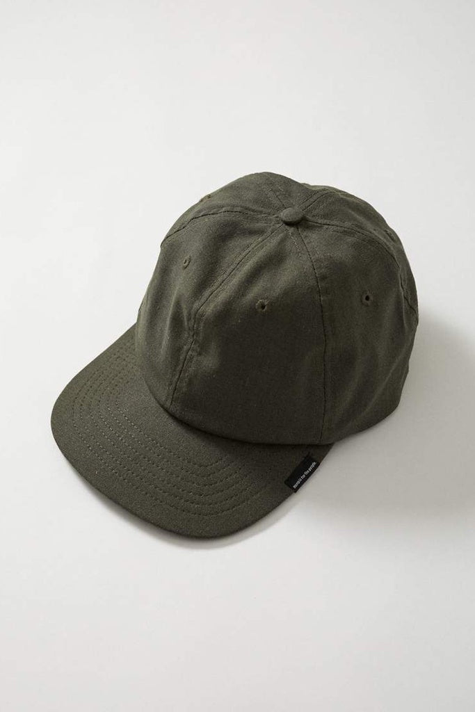 Afends Classic Hemp 6 Panel Cap Military