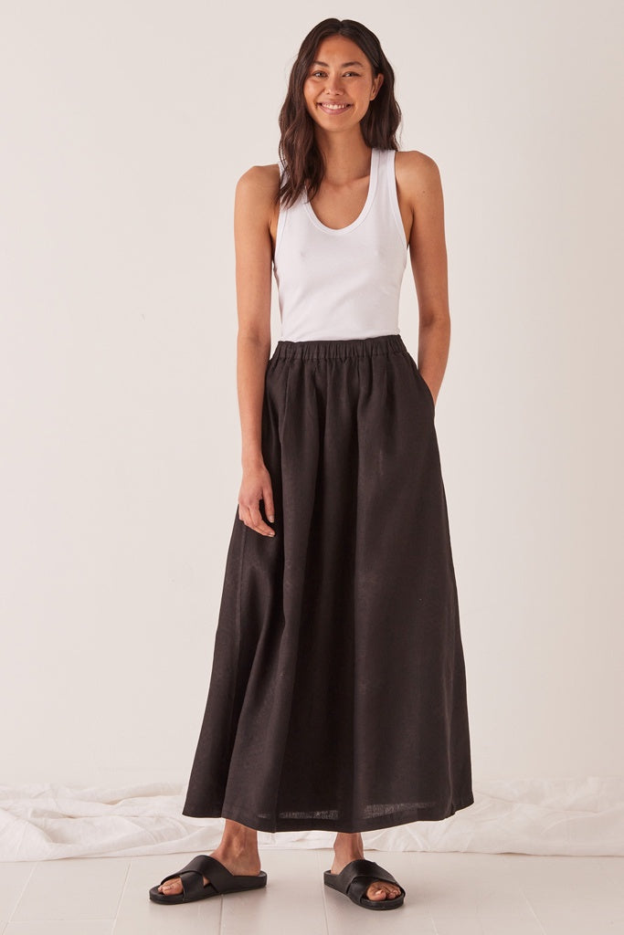 Assembly Noma Linen Skirt Black