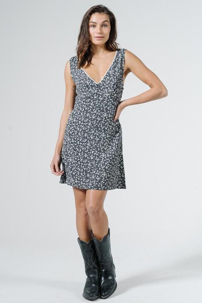 Thrills Acacia Sleeveless Dress - Black