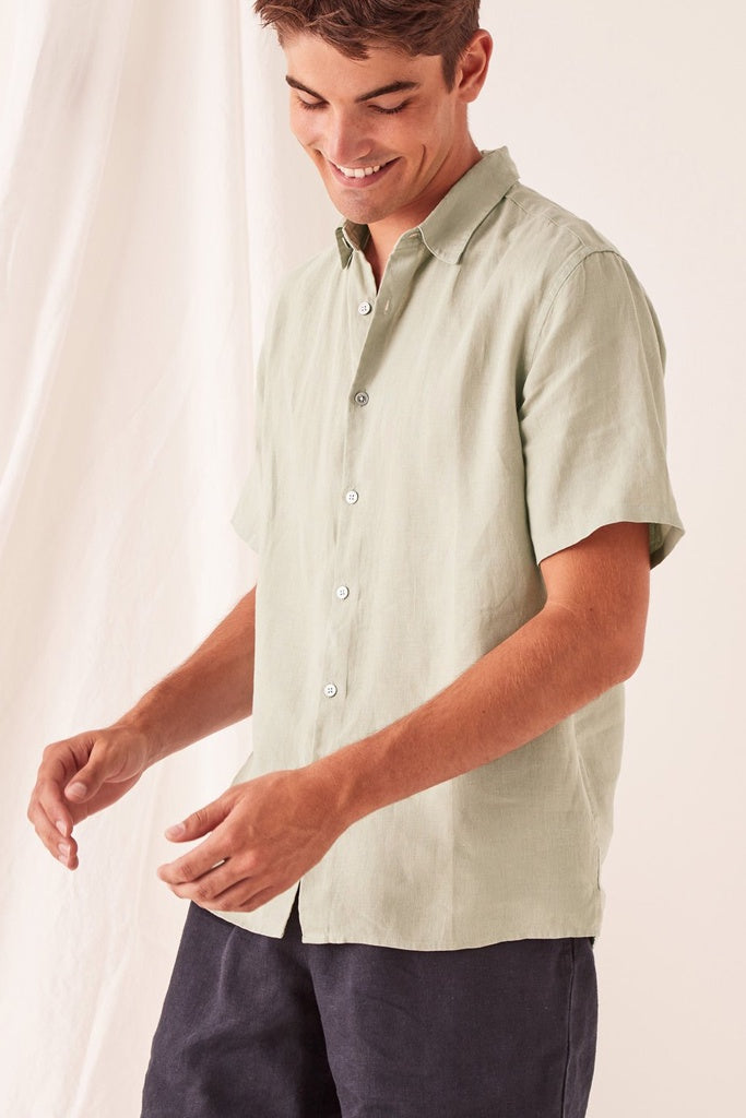 Assembly Casual Short Sleeve Shirt Soft Green