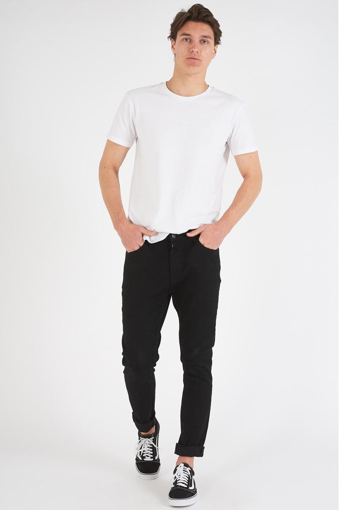 Abrand Dropped Slim Jean Black
