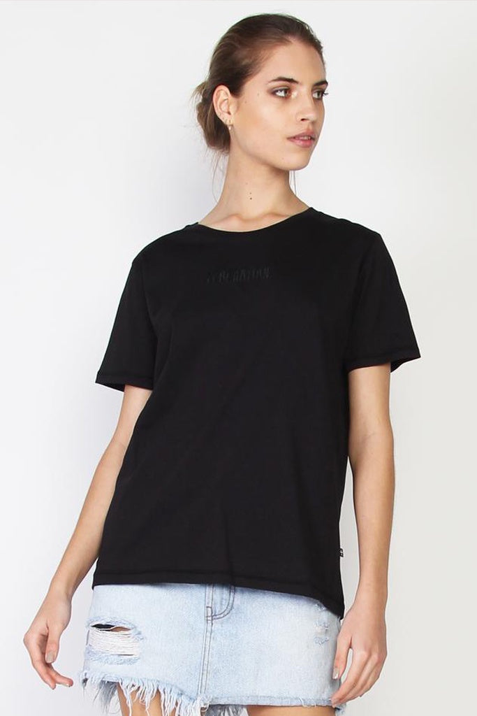 Federation Ace Tee Typed Black