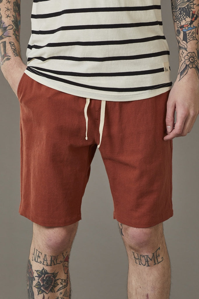 Just Another Fisherman Linen Dinghy Shorts Rust
