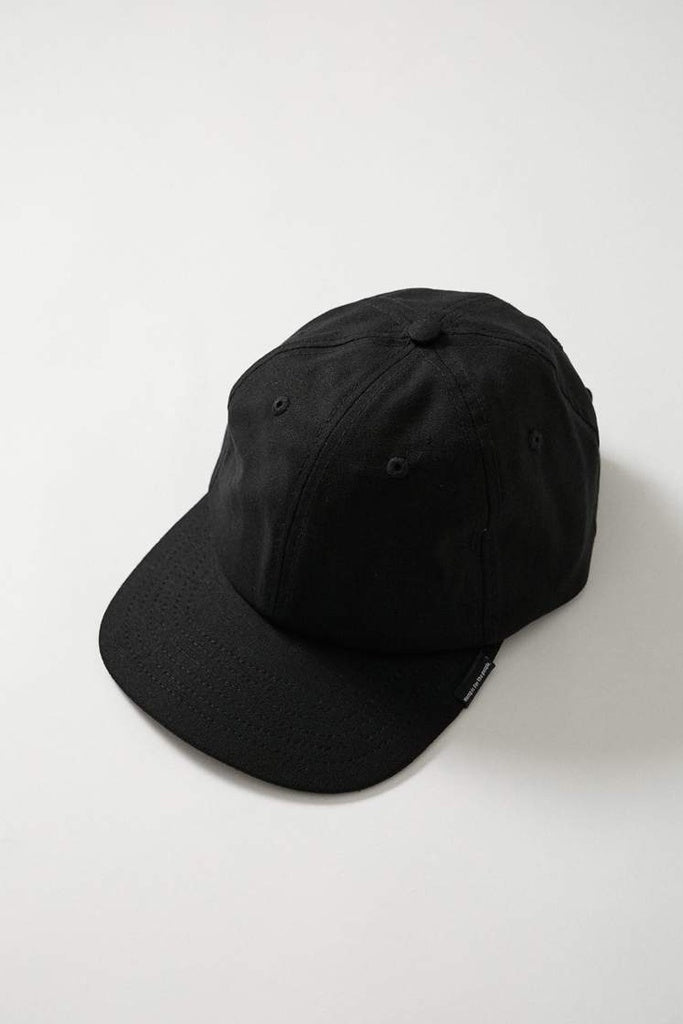 Afends Classic Hemp 6 Panel Cap Black