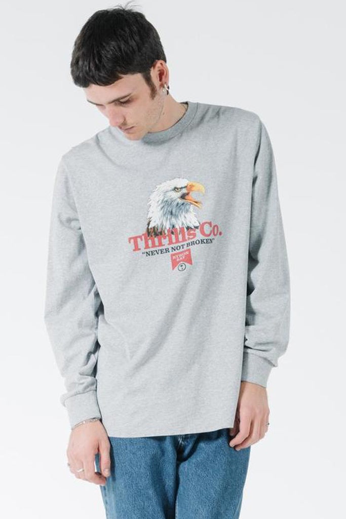 Thrills Talla Merch Fit Long Sleeve Tee - Vintage Marle