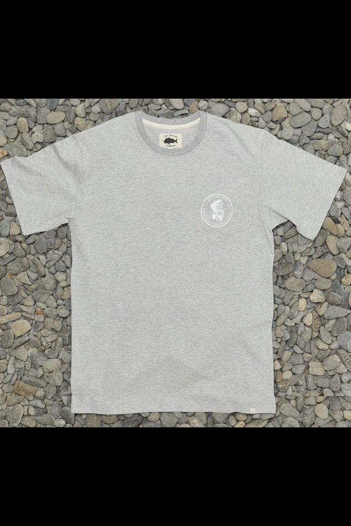 Just Another Fisherman Old Sea Dog Tee Grey Marle