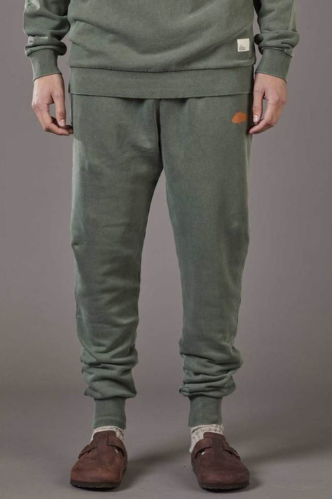 Just Another Fisherman Snapper Stamp Trackpants Forest Green