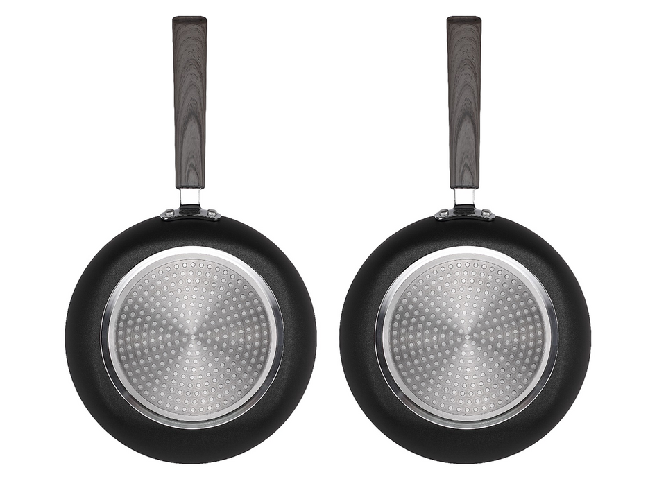 12 Inch Classic Non-stick Fry Pan with LIDS (2 PACK)