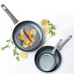 3 Piece Classic Nonstick Open Fry Pan (8, 9.5, 11 Inches Set)