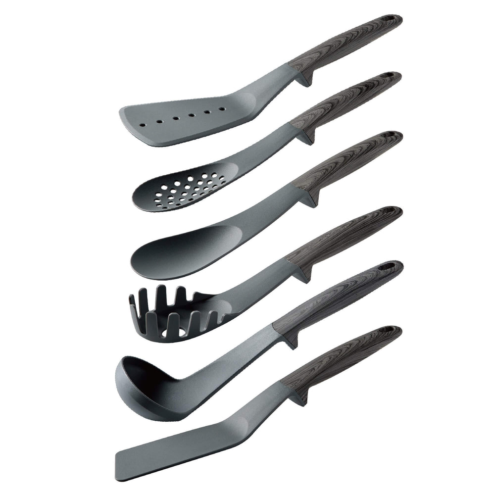 Classic 6 Piece Utensil Set - Grey