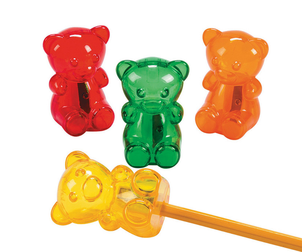 Gummy Teddy Bear Pencil Sharpeners