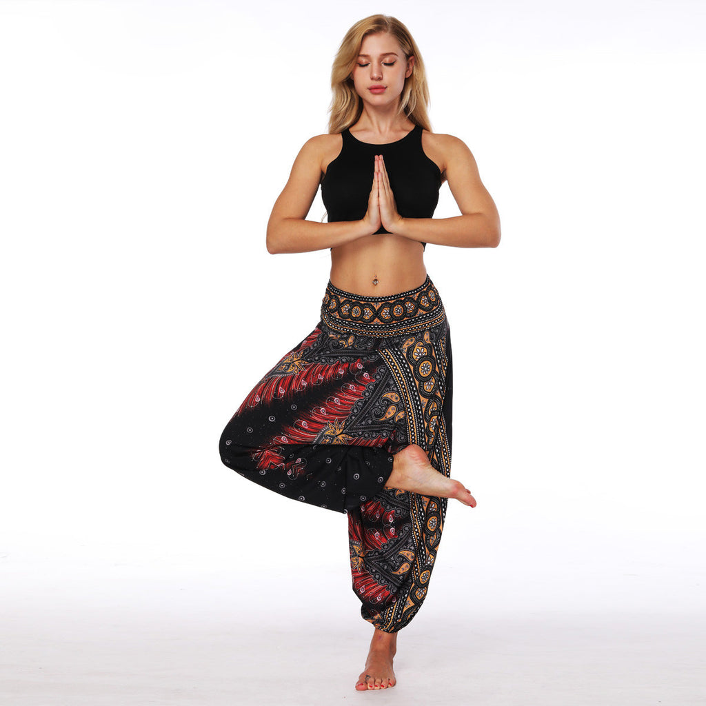 LETHE WIDE YOGA PANTS - deities