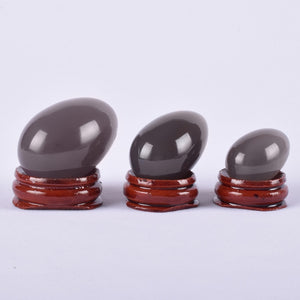Undrilled Natural Agate Set Yoni Egg - deities