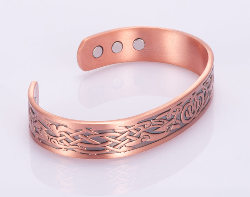 TIBETAN ORNAMENT COPPER HEALING MAGNETIC BRACELET - deities
