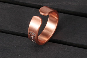 12 ZODIAC SIGNS COPPER HEALING MAGNETIC RING - deities