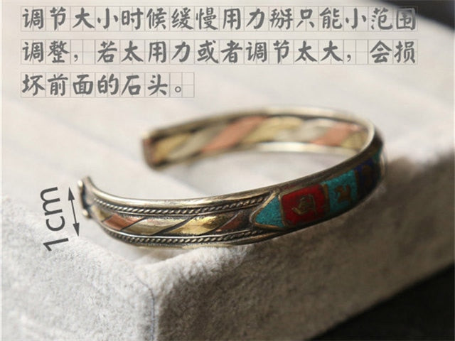 VITAL TREASURE TIBETAN MANTRA CUFF - deities