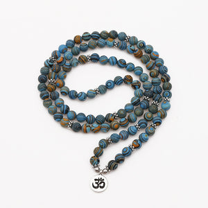 PEACOCK STONE MALA - deities