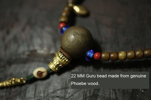 GENUINE PHOEBE BLESSED TIBETAN MALA - deities