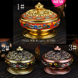 HANDMADE TIBETAN INSENCE HOLDER - deities