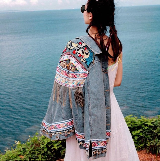 EMBROIDERY JACKET WITH TASSELS - deities