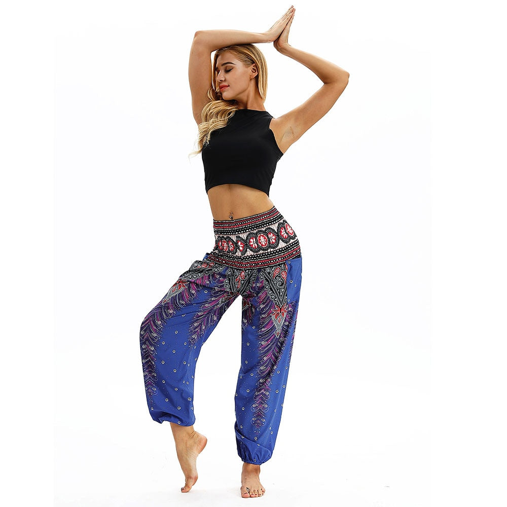 DARK BLUE DIAMOND YOGA PANTS - deities