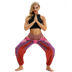 RED DIAMOND YOGA PANTS - deities