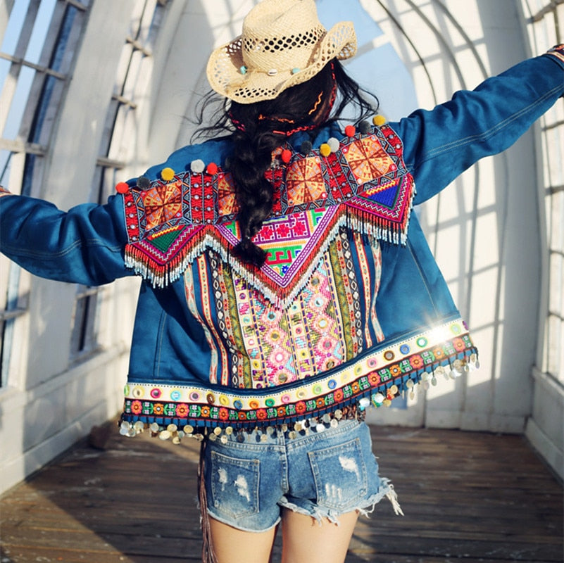HANDMADE BEADING EMBROIDERED JACKET - deities